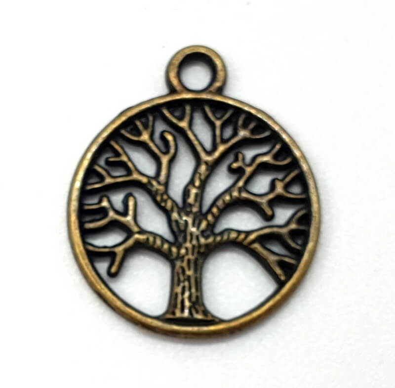 Charm Tree of Life Bronzo 2 cm 50 pezzi