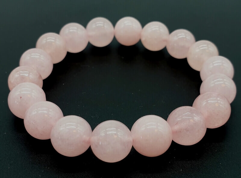Bracelet Quartz Rose Perles 10mm
