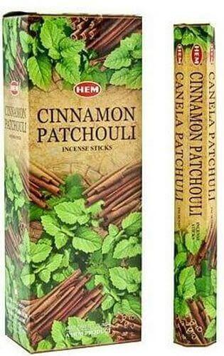 Incenso HEM Patchouli Cannella 20g