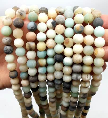 Perles Amazonite 8mm sur fil 40cm