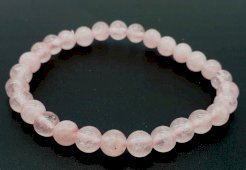 Bracelet Quartz Rose Perles 6mm