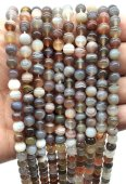 Perles Agate Bostwana 6mm sur fil 40cm