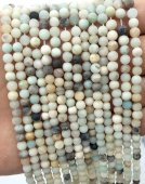 Perles Amazonite 4mm sur fil 40cm