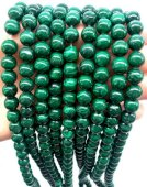 Perles 'Dark Green' Malachite 8mm sur fil 40cm